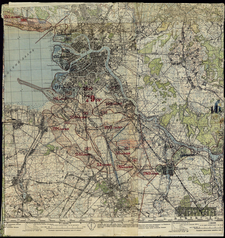 план схема блокады ленинграда 1941 1944